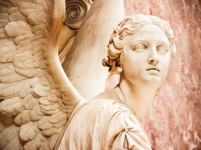 beautiful antique angel - close up