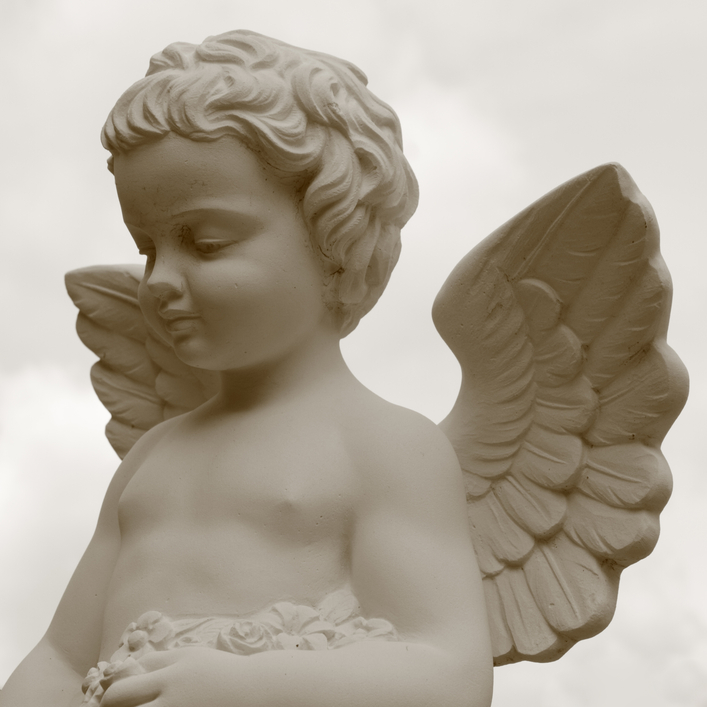 vintage image of cemetery angel