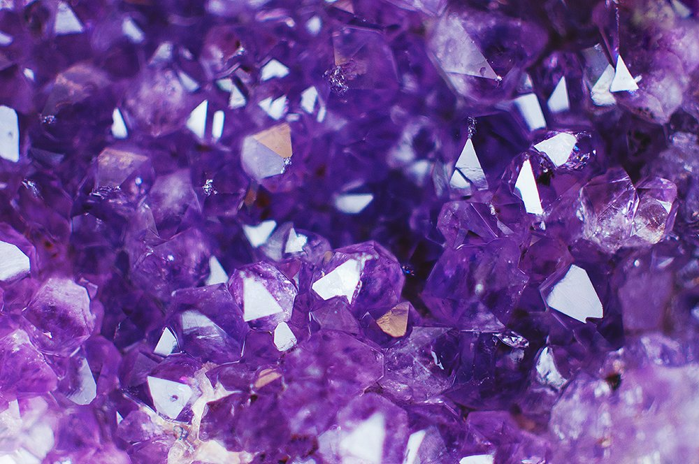 Amethyst gemstone crystal