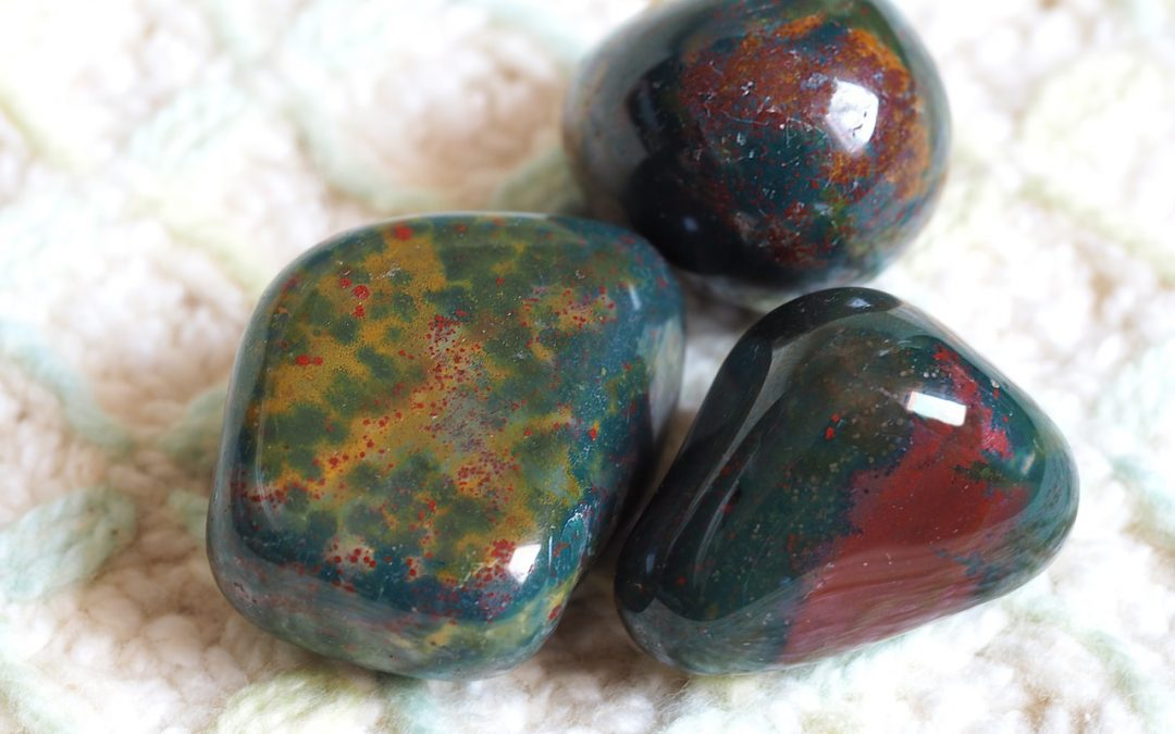 Bloodstone gemstone crystal