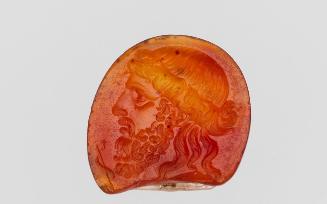 Carnelian gemstone crystal