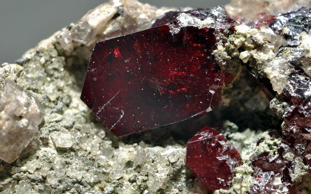 Cuprite gemstone crystal